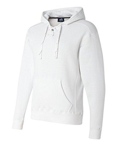 10 Oz Kapuzen-sweatshirt (Adult Sport Lace Hood WHITE XXS)