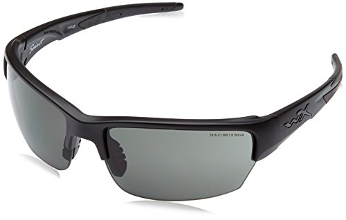 5e14374a4d Wiley X Saint Smoke Grey Clear Light Rush Matte Black Frame