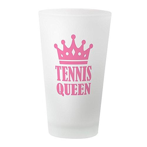 CafePress–Tennis Queen Krone–Pint-Glas, 16oz Trinkglas frosted