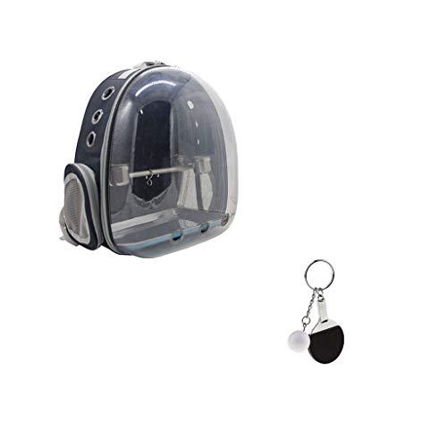 FLAMEER Transpirable Mochila con Espacio Panorámico de Ave Portador de Mascotas Pájaro Soporte Bolsa Transportadora para Loro