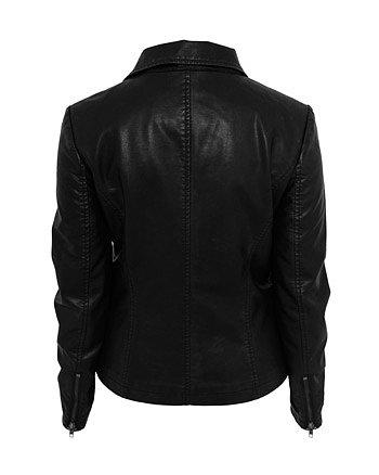 Urban Classics Ladies Biker Jacket black Abbildung 2