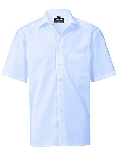 Gebraucht, Olymp Luxor kurzarm Hemd Modern Fit - blau, 43, Mittelblau gebraucht kaufen  Wird an jeden Ort in Deutschland