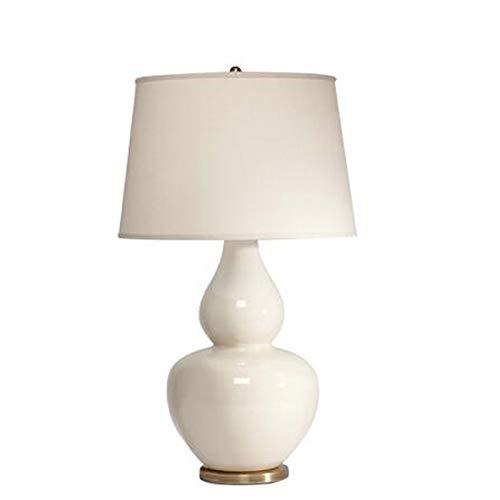 YXWtda Nachttischlampen Amerikanischer Stil Schlafzimmer Tischlampe weiß Kürbis-förmigen Keramik Tischlampe, hohe 64cm LED Tischleuchte Schreibtischlampe (Stil : A2)