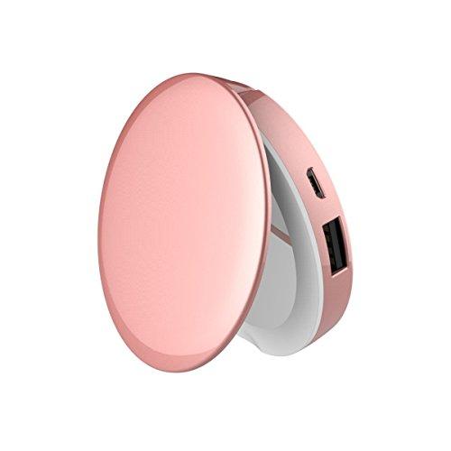 Bestes Geschenk - GemCharger Powerbank mit LED-Spiegel 1600mAh BUB76m für Ihr iPhone X, 8, 8+, 7,...