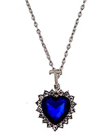 Fasherati Blue Heart Of The Ocean Titanic Necklace For Girls