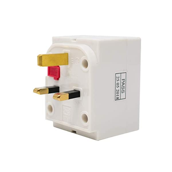 3-Way Surge Protected UK Plug Socket Multi-Adaptor / 13A Fused/Conforms To BS1363 / Max Load 13A/250V / Ideal for Indoor Applications/iCHOOSE 31 6wq oDlL