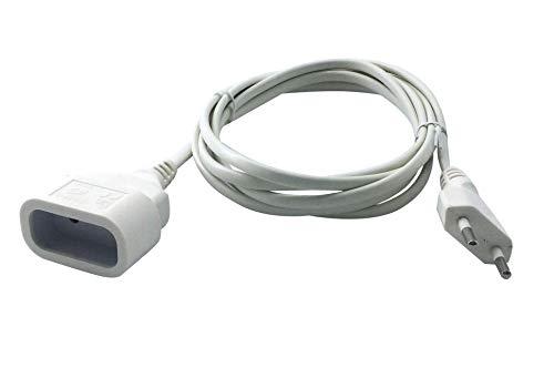 Velamp PRO10A-FR-3 Rallonge Prolongateur électrique 3 m fiche extra plate 6A - section 2x0,75 mm² Blanc