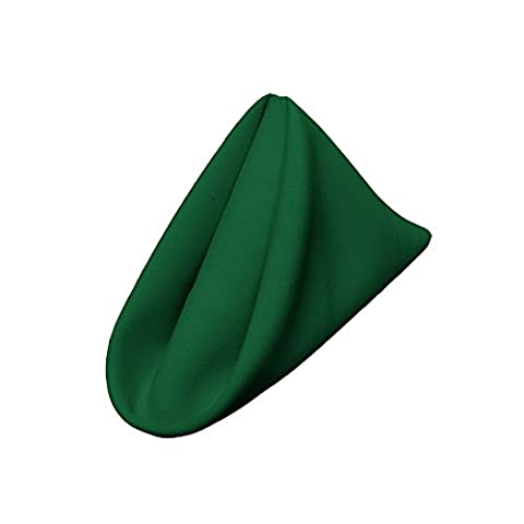 LA Linen Poplin Napkin, Polyester, Emerald Green, 18 x 18-inch, Pack of 10