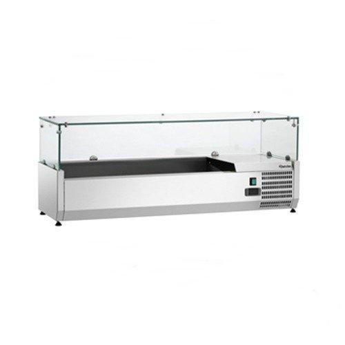 Bartscher Kühlaufsatzvitrine GL3 3x1/3+1x1/2GN - 110175