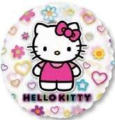 Folienballon Hello Kitty durchsichtig bunt rund rosa ca. 66 cm ungefüllt (Ballongas ()