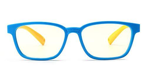 Keephen Gemütlich Neue Mode Kinder anti-blau Brille Jungen und Mädchen flach Spiegel Silikon Brille weichen Rahmen Rahmen F008