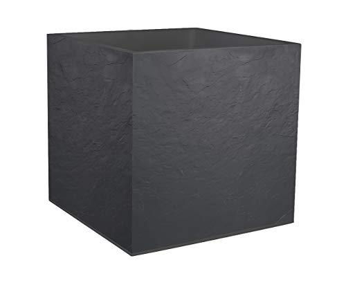 Eda plastiche vaso quadrato volcania, grigio antracite