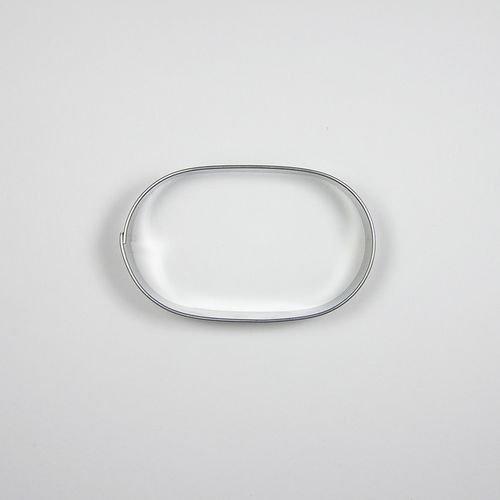 BLEX halusky Nr. 2Mocca Ovale Form Edelstahl Cookie Cutter, Weißblech, Silber, 1,5x 8x 8cm
