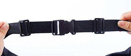 ModaKeusu Dual Pocket Sport Taille Pack Tasche Running Gürtel Wasserdicht Wandern Telefon Holster Schwarz