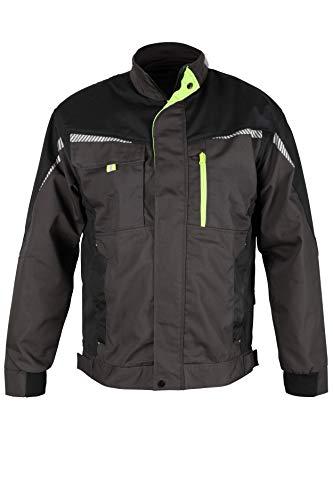 Stenso prisma® - giacca da lavoro multifunzione con strisce riflettenti - slim fit - uomo - grigio/nero/verde - 52
