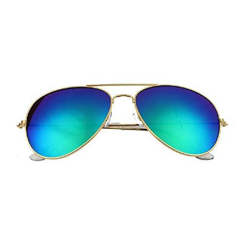 Firally hot sale occhiali da sole,unisex classico retrò occhiali da sole telaio in metallo polarizzate occhiali da sole(verde oro)