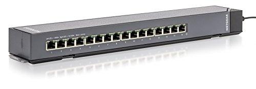 Netgear GSS116E-100EUS 16 Port Smart Managed Plus Gigabit Ethernet Click Mount (Netgear Prosafe 16-port Switch)