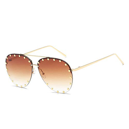 ANSKT Brillenmode Sonnenbrillen Sonnenfrauen Polarized Sunglasses-Brown