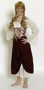Bouquetière avec bustier pour femme taille 36/38 pour le carnaval ou les soirées déguisées