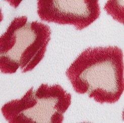 Bas de Pyjama Motif Imprimé Léopard en Laine Polaire Doux Épais Femme Rouge