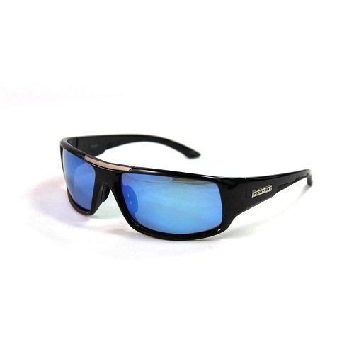 Newport Polarisierte Sonnenbrille Angel, Herren, Black Frame/Blue Revo Mirror Lenses, Einheitsgröße