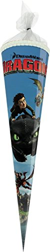 Preisvergleich Produktbild Dragons Schultüte / Zuckertüte / Länge: 70cm / rund