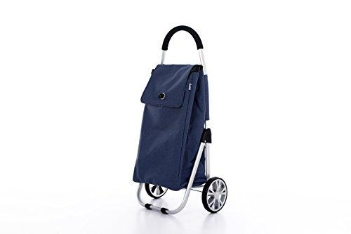 Moderner Luxus Einkaufswagen Einkaufsroller Einkaufstrolley Einkaufstasche Shopper (Blau)
