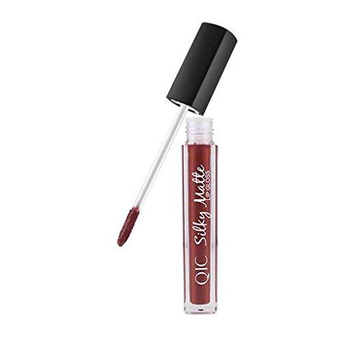 ELENXS New QIC Femmes Filles Matte Rouge à Lèvres Liquide Lèvres Liquide Velours Imperméable Maquillage Gloss Baume hydratant Cosmetic # 11