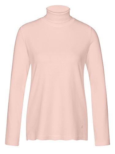 TOM TAILOR Donne Maglietta a maniche lunghe 100% cotone rosa 44