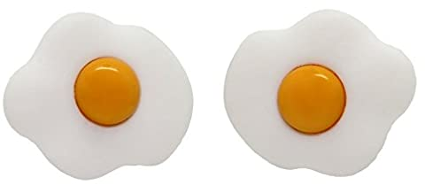 Bluebubble ALL DAY BREAKFAST Fried Egg Earrings With FREE Gift Box