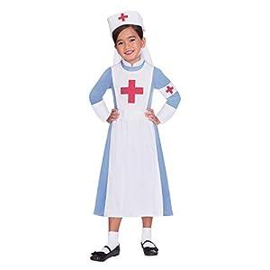 Amscan International- Vintage Nurse 10-12 Years Disfraz, Color (9904681)