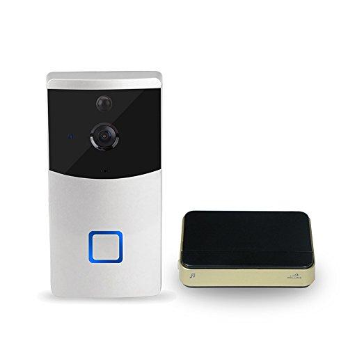 Visual Intercom (LanLan drahtlose T¨¹rklingel Creative Wireless Wi Fi Ring T¨¹rklingel mit Visual Intercom Low Power Consumption Home Security Monitor mit Erinnerung Ger?t)
