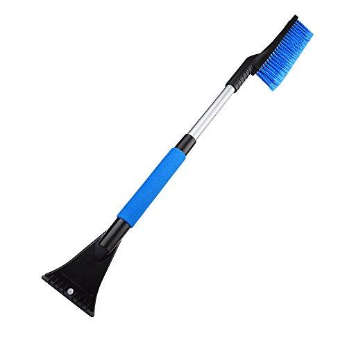 Preisvergleich Produktbild Bermud Softgriff Teleskop Schneefeger Bürste mit Eiskratzer,660 x 110 x 35 mm, blau/schwarz