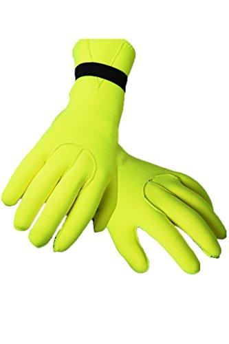 Neoprenhandschuhe Wasserdicht Taucherhandschuhe 2.5MM Neoprene Diving Gloves M Yellow