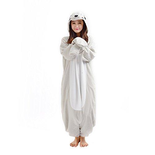 Dichtung Tier Kostüm - Casa Erwachsene Unisex Jumpsuit Tier Onesie