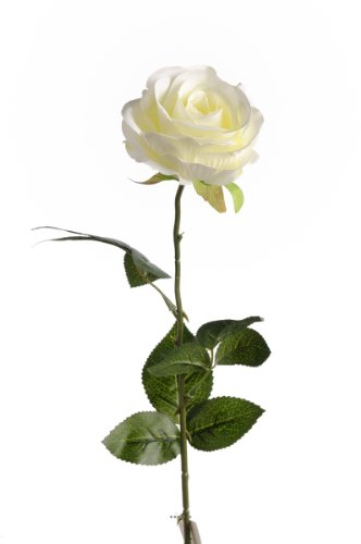 Artif-deco - Rose nina artificielle champagne h 70 cm tete superbe de 9 cm 3 feuilles superbe - choisissez votre coloris: champagne