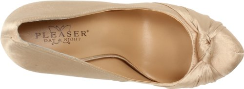 Pleaser Day & Night GORGEOUS-28 Damen Plateau Pumps Champagne Satin