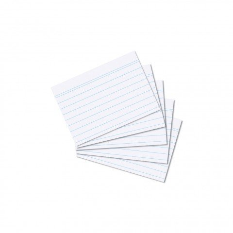 500 Karteikarten in A8 weiß liniert von Herlitz Sparpaket