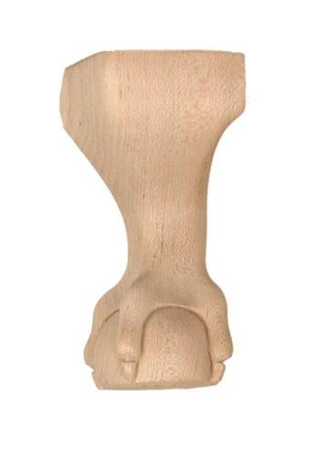 Queen Anne–2–5/20,3cm X 2–5/20,3cm X 6Holz geschnitzt Möbel Bein mit Ball und Kralle ohne Flügel in Cherry (Kirsche Beine Holz)