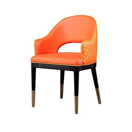 RMXMY Nordic Light Esszimmerstuhl Raum Stuhl Eschenholz Esstisch und Stuhl Kombination einfache Moderne Startseite Essen Stuhl zu diskutieren Stuhl , Orange (54x53x84CM)