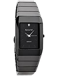 Accurist Men's Quartz Watch with Black Dial Analogue Display and Black Ceramic Bracelet MB952.01