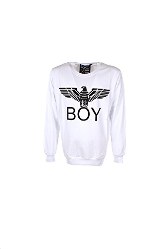 Preisvergleich Produktbild Felpa Uomo Boy London S Bianco Bl587 1/7 Primavera Estate 2017