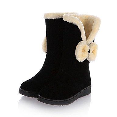 RTRY Scarpe Da Donna In Pelle Nubuck Autunno Inverno Comfort Novità Snow Boots Fashion Stivali Stivali Tacco A Cuneo Round Toe Stivali Mid-Calf Giù US8 / EU39 / UK6 / CN39