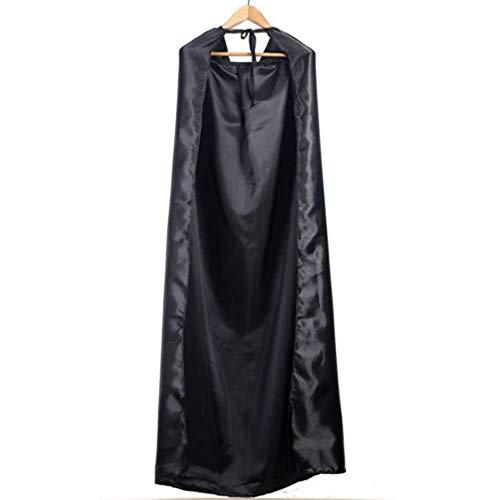 Disfraz de Halloween negro Teatro Prop Muerte Sudadera con capucha Capa Diablo Tippet largo Cabo para Halloween Fiesta de disfraces - Negro (De Halloween Fiesta Disfraces)