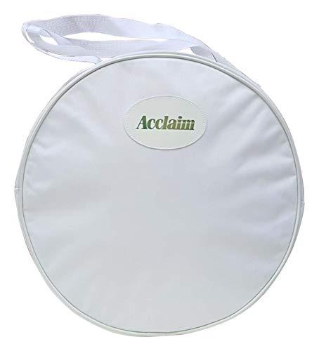 Acclaim Huttasche 600D weiß Nylon passend für Kalgoorlie Umpires Cricketmütze Tasche Ø 38 cm