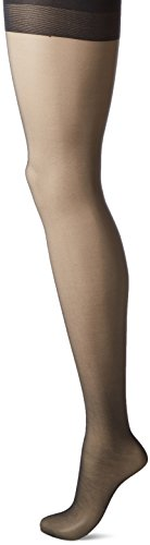 L'eggs Women's Silken Control Top Shaper Panty Hose, Jet Black, B -