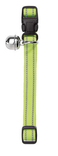 HUNTER FLASHLIGHT Halsband für Katzen, Nylon, elastisch, reflektierend, Glöckchen, gelb