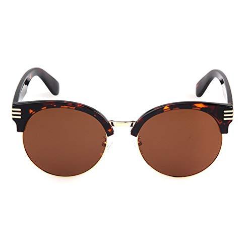 Vintage halbrandlose Damen polarisierte Sonnenbrille TR90 UV-Schutz für den Urlaub im Freien Brillen. Brille (Farbe : Tea)