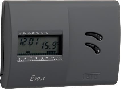 Vemer VN136800 Cronotermostato EVO.X NERO da parete con programmazione settimanale
