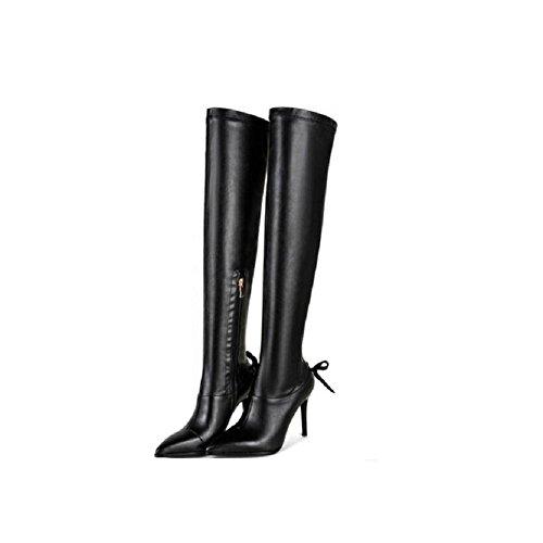 Elasticizzato a punta a spillo bene stivali invernali/donna con stivali al ginocchio , 35 35